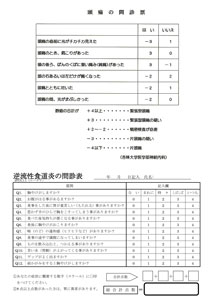 頭痛と逆流問診表